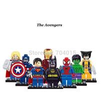 Super Heroes Marvel Vingadores Kit 8 Mini Figuras Lego