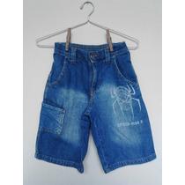 Saldão Roupas Infantis Bermuda Jeans Homem Aranha 4 Anos