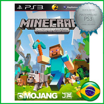 Minecraft Ps3 - Código Psn - Midia Digital - Legendado Pt-br
