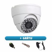 Kit 5 Câmeras Cftv Dome Infra + Grátis Conectores E Fontes