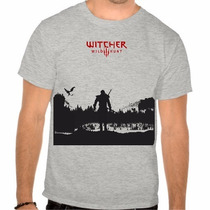 Camiseta The Witcher 3 Jogo Camisa Ps4 Masculina