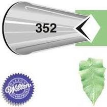 Bico P/ Confeitar Inox Pequeno - 352 Folha Wilton Sem Emenda