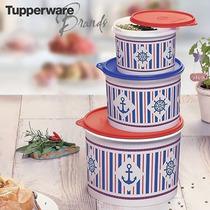 Kit Tupper Caixas Tupperware 3 Peças 5l + 2,4l +1,1l