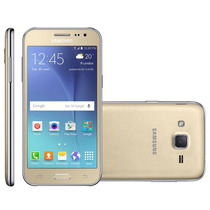 Smartphone Samsung Galaxy J2 Tv Duos Dourado 2 Chips Quad Co