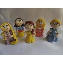 Lembrancinha Mini Princesas Biscuit - Kit Com 10 Unid.