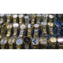 Kit Relógio Masculino Dourado Luxo Atacado E Revenda Lote 10