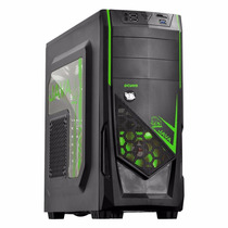 Gabinete Gamer Java Atx Usb 3.0 Preto/verde Midtower Pcyes
