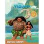 Livro Disney Vamos Colorir Moana