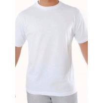 Camisa Lisa Branca 100% Poliester - Para Sublimação Gola O