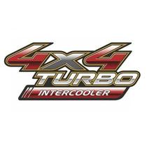 Emblema Adesivo 4x4 Turbo Intercooler Toyota Hilux 3 Anos