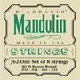 Encordoamento Bandolim Cordas J62 Bronze 80/20 D