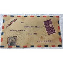 Envelope Circulado 1933 Via Aérea Com Selo Z12 Zepellin