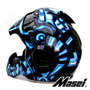 Masei 610 Azul Máquina De Guerra Motocicleta Chopper Capacet