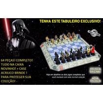 Xadrez Star War Impecável 64 Peças + Tabuleiro + Brinde