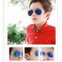 Óculos Sol Aviador Infantil Lente Azul Proteção Uv400 Lindo