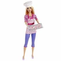 Boneca Barbie Coleção Quero Ser Chef De Cookies Cozinha