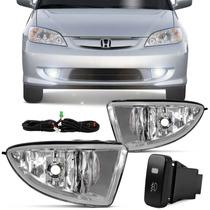 Kit Farol Milha Civic 2004 2005 2006 Honda Auxiliar Neblina