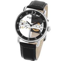 Relógio Stuhrling Original Couro Preto Corda Importado Novo