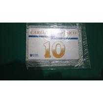 01 Cartões Telefonico Numeral 10 (laranja) Raros