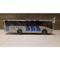 Miniatura De Ônibus Da Viação Mauá Em Madeira S/ Retrovisor