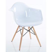 Cadeira Eames Eiffel - Policarbonato Branca Sólida C/ Brilho