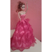 Vestido Roupa Luxo Para Barbie Boneca Festa+brinde