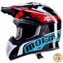 Capacete De Motocross Mormaii Cooler Preto Fs 603