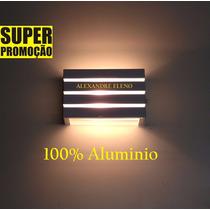 Kit 2 Arandela Externa Interna Parede Frisos Alumínio