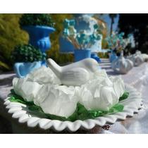 Porta Doce Em Cerâmica Esmaltada Branco Suporte Decoração