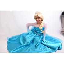 Vestido Fantasia Frozen Elsa E Ana Sob Medida Tamanho 1 A 14