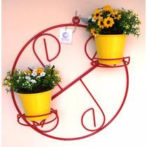 Suporte Decorativo De Vasos De Metal Para Parede Redondo