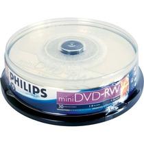 Mini Dvd-rw Philips Regravável 10 Un.original Filmadora