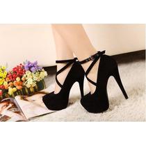 Sapato Importado Feminino Salto Alto Scarpin