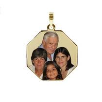 Pingente Ouro C Foto Gravada - Famíla, Bebê, Cachorro, Pets