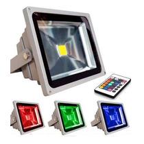 Refletor Holofote Led Rgb 20w Ip65 Bivolt Controle 110v/220v