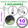 Kit 10 Hastes De Aluminio Estrela Cerca Eletrica 6 Isolador