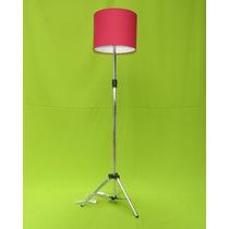 Abajur De Chão,luminaria,pé,coluna Pedestal Tripé Vermelh Sp