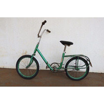 Bicicleta Antiga Caloi Berlineta Dobravel Anos 70