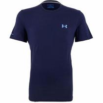 Camiseta Under Armour Charged Cotton Azul Marinho