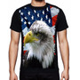 Camiseta Bandeira Estados Unidos Águia Da Liberdade Usa Eua