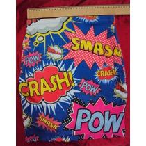 Promoção Saia Quadrinhos Balão Pow Crash Cartoon Tamanho M