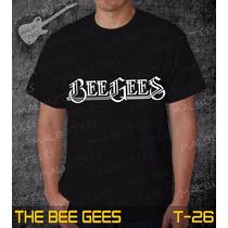 Camiseta The Bee Gees Rock Roll Bandas Preta Frete Grátis
