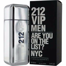 Perfume Carolina Herrera-212 Vip Men Edt 100 Ml