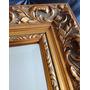 Espelho Bisotê Moldura Folheada A Ouro Antigo 39x33x4,5cm