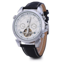 Relógio Luxo Jaragar Tourbillon Masculino Prata