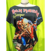 Blusa Ombro Caido Iron Maiden
