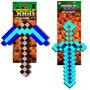 Kit Espada E Picareta Minecraft 60 Cm Original Aniversário