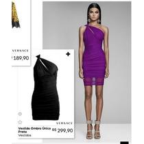 Lindo Vestido Roxo Versace Para Riachuelo! Novo N 36