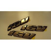 Logotipo Emblema Dourado Do Porta Malas Gol Gti 16v Original