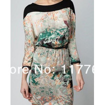 Lindo Vestido Estilo Zara Estampado Com Decote Nas Costas M